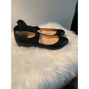 Jessica Simpson Black Leather Flats